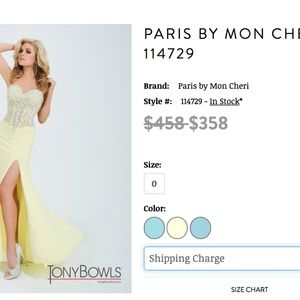 Yellow Tony Bowls Prom/Pageant Gown